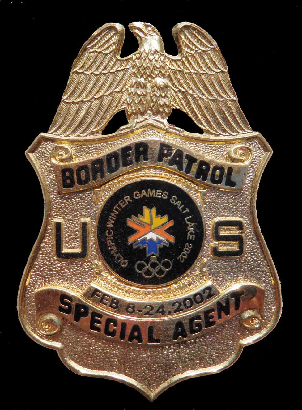2002 Winter Olympic USBP-SA badge