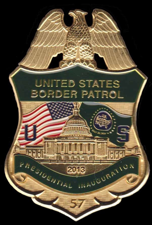 2013 U.S. Border Patrol Inaugural Badge