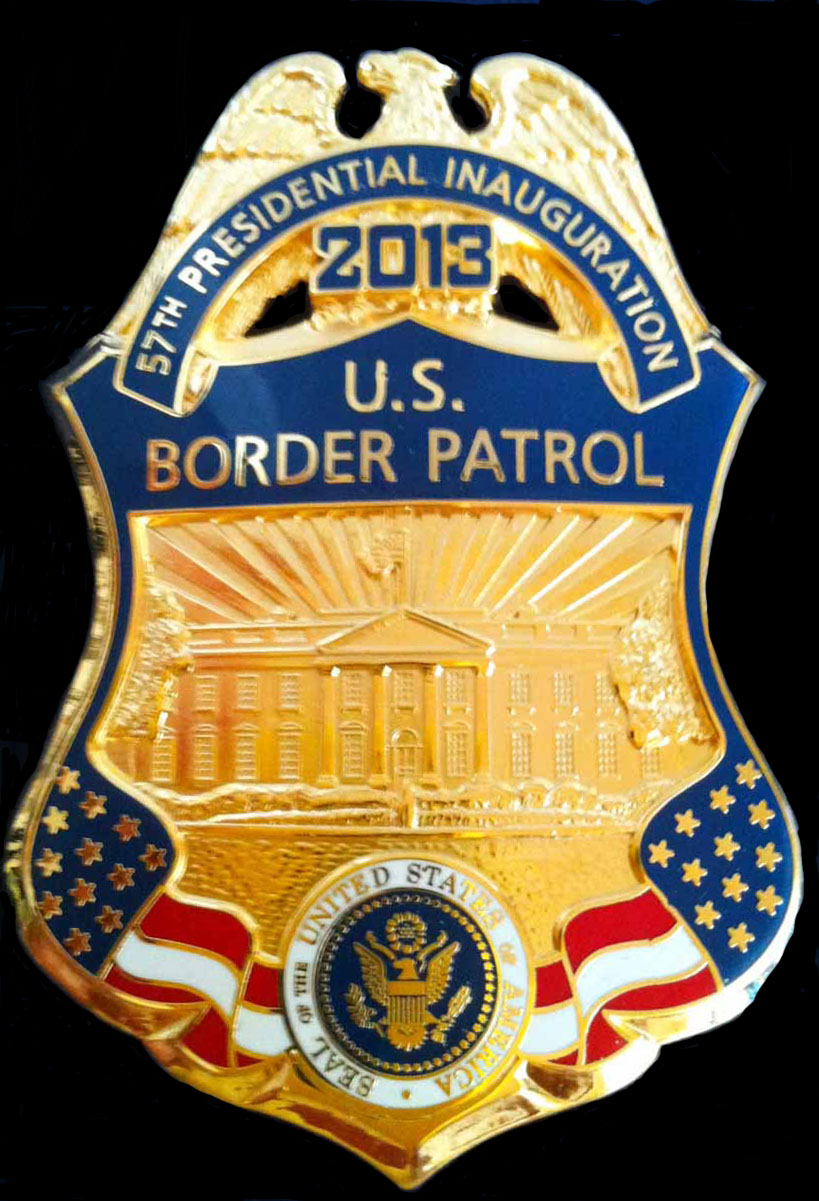 2013 U.S. Border Patrol Inaugural Badge -2