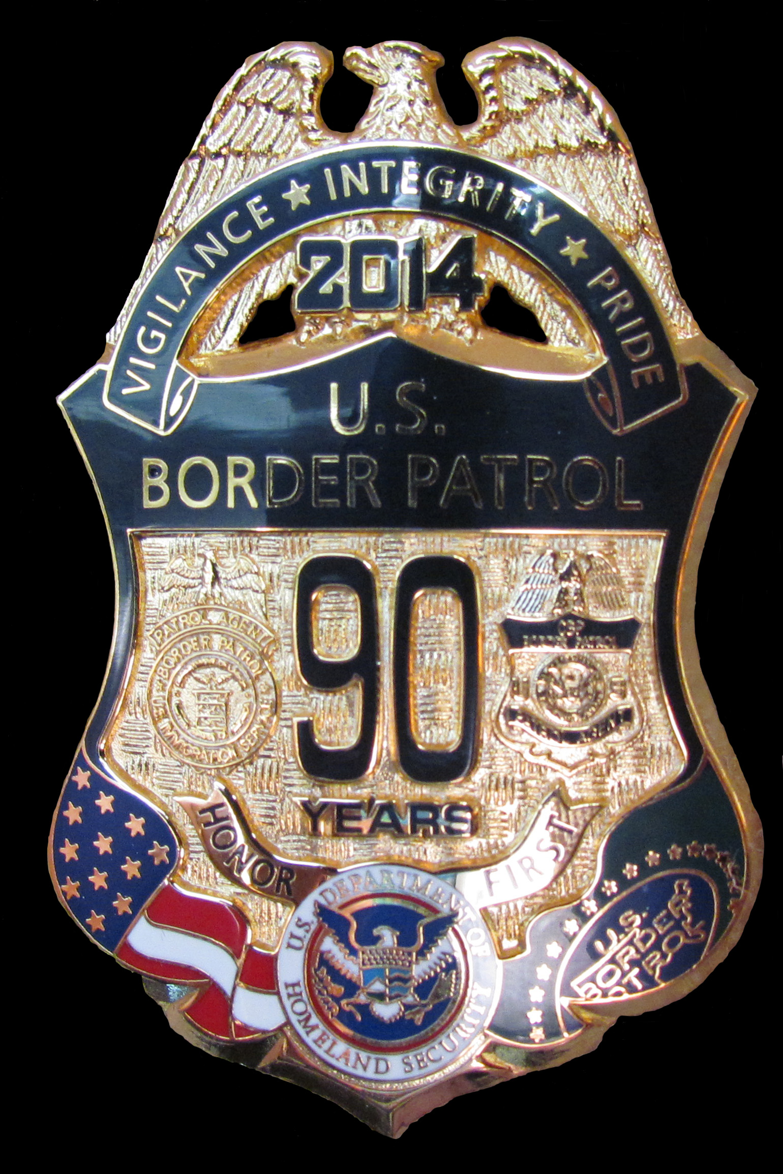 USBP 90th Anniversary Badge