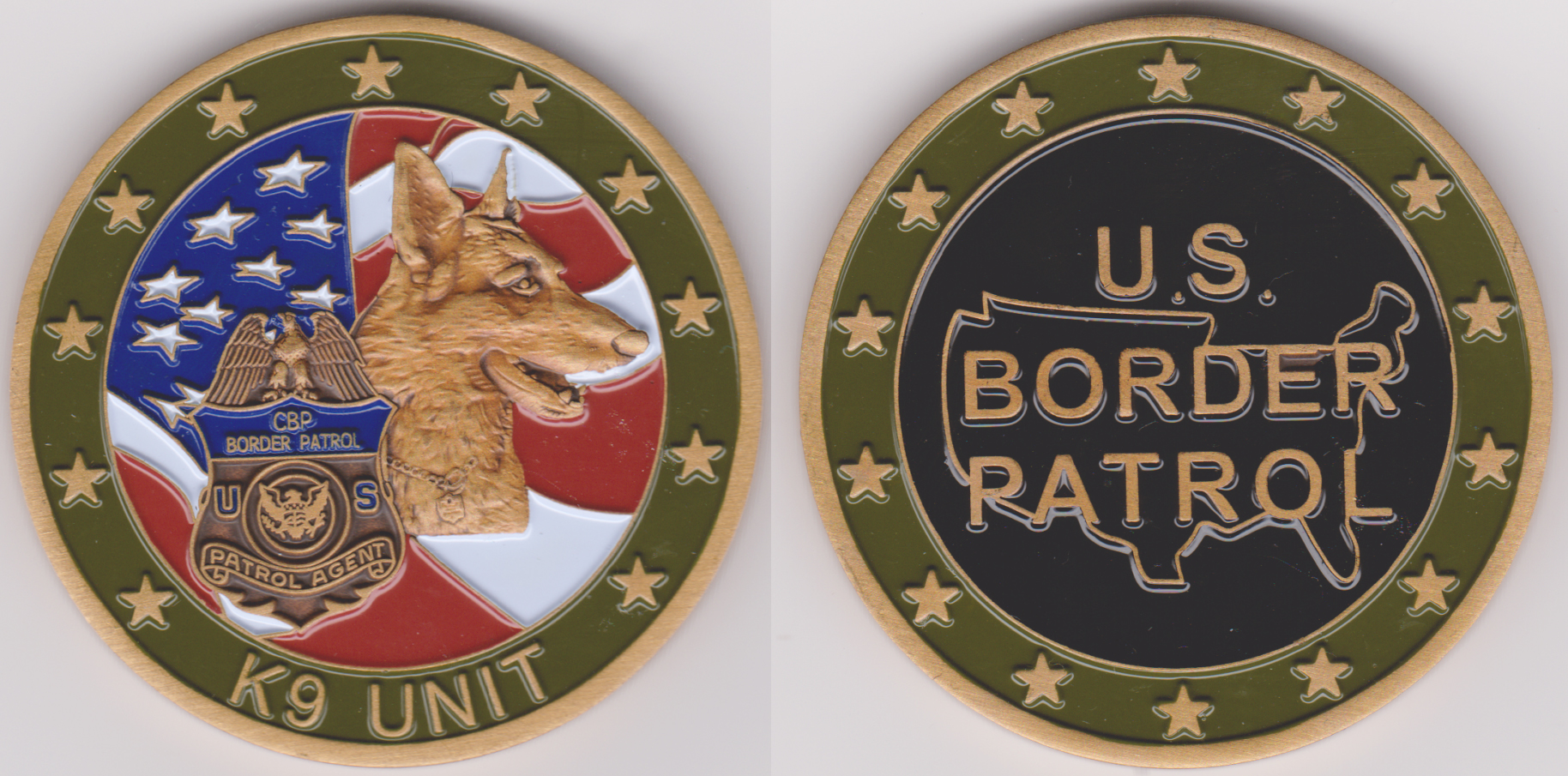 us border patrol special unit challenge coins page 1