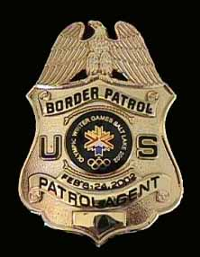 USBP 2002 Winter Olympics Badge