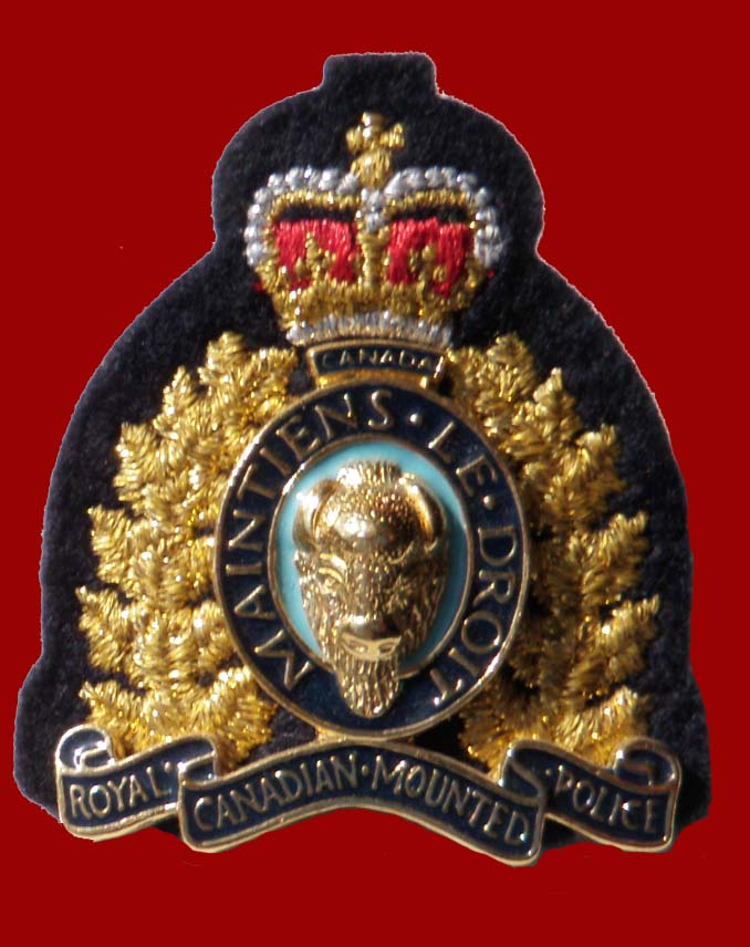 RCMP Officers hat badge